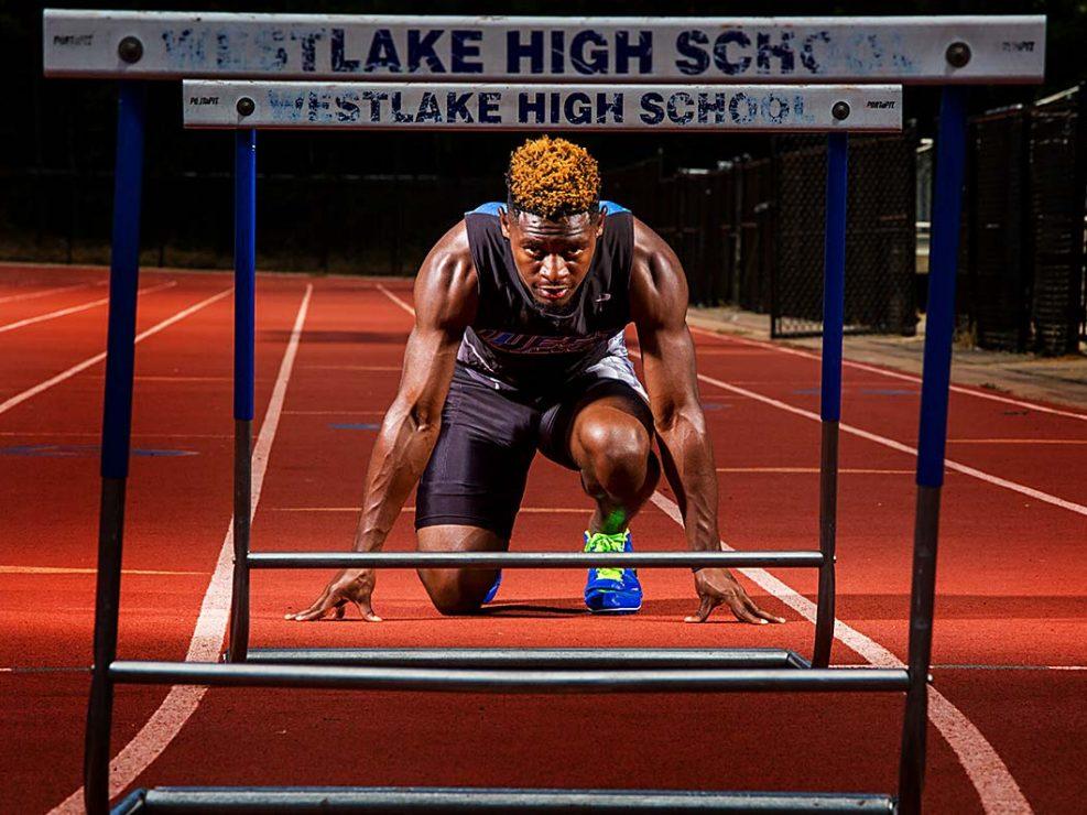 Athletic Gallery - Westlake HS man prepares for marathon